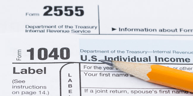 Form 2555 being used to claim the foreign earned income exclusion